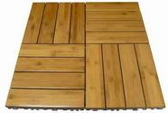 Horizontal Bamboo wood deck