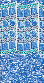 Swimming pool liner pattern