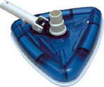 See-through pool Vacuum Head with swivel
