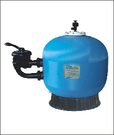 Side-mount swimming pool water filters